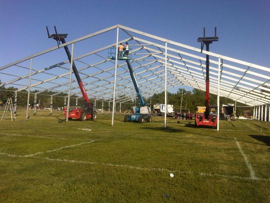 40M Wide Clear Span Tent - Francophone Games 2011, Sudbury, Ontario
