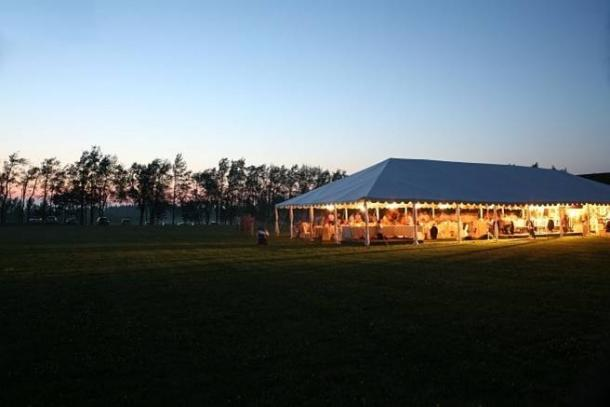 40' Wide Frame Tent Rental - Side Walls Removed