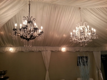 Tent options chandeliers mozeypictures Choice Image